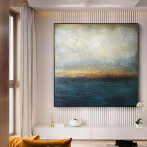 Pure hand-painted oil paintings living room modern Nordic style decorative oilpainting abstract simple mural porch American - SallyHomey Life's Beautiful