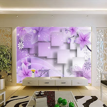 Load image into Gallery viewer, 3D  Purple Flowers - SallyHomey Life's Beautiful