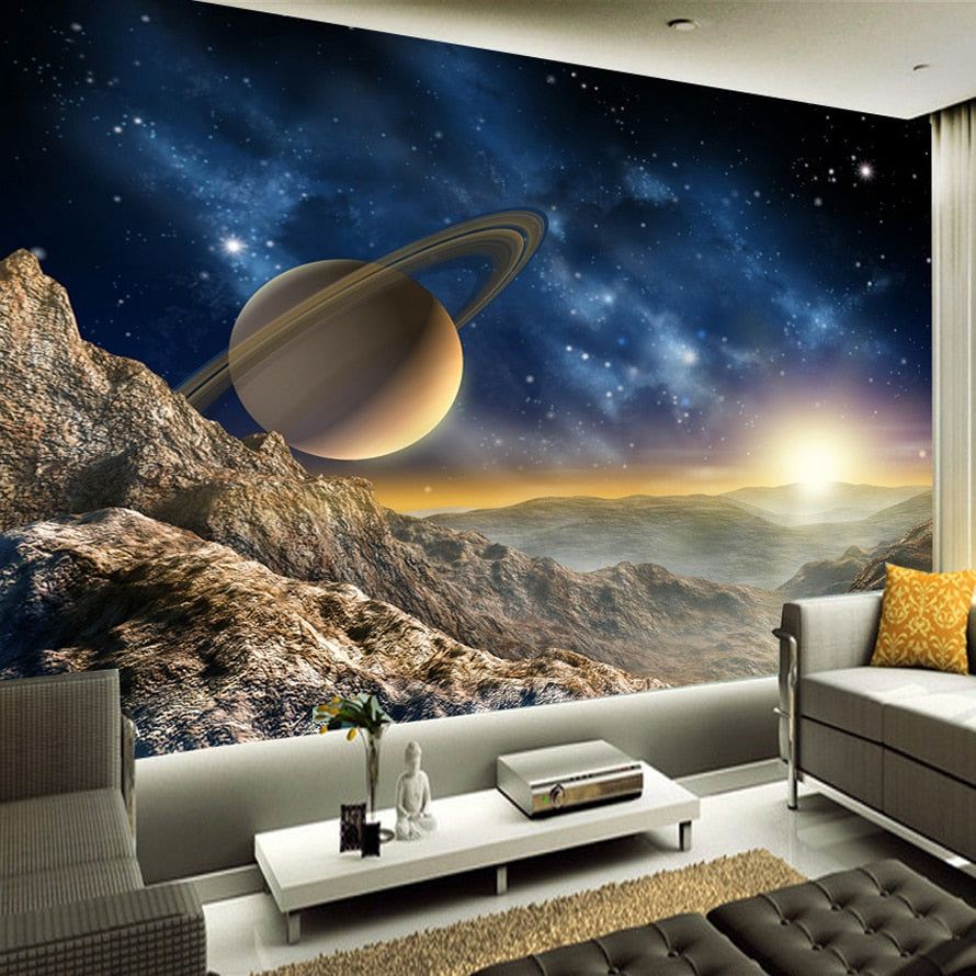 Space Universe  Wall Painting - SallyHomey Life's Beautiful