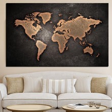 Load image into Gallery viewer, Abstract 3D World Map Canvas Painting - SallyHomey Life's Beautiful