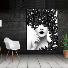Load image into Gallery viewer, Butterfly Woman Wall Art Canvas Prints - SallyHomey Life's Beautiful