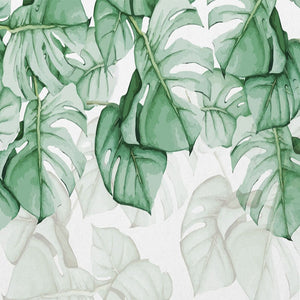 Tropical Plant Wall Painting - SallyHomey Life's Beautiful