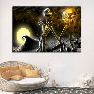 Halloween Canvas Pictures Home Decor - SallyHomey Life's Beautiful