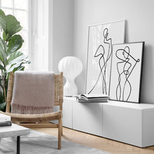 Load image into Gallery viewer, Geometric Curve Wall Art Canvas Printing Black White Poster - SallyHomey Life's Beautiful
