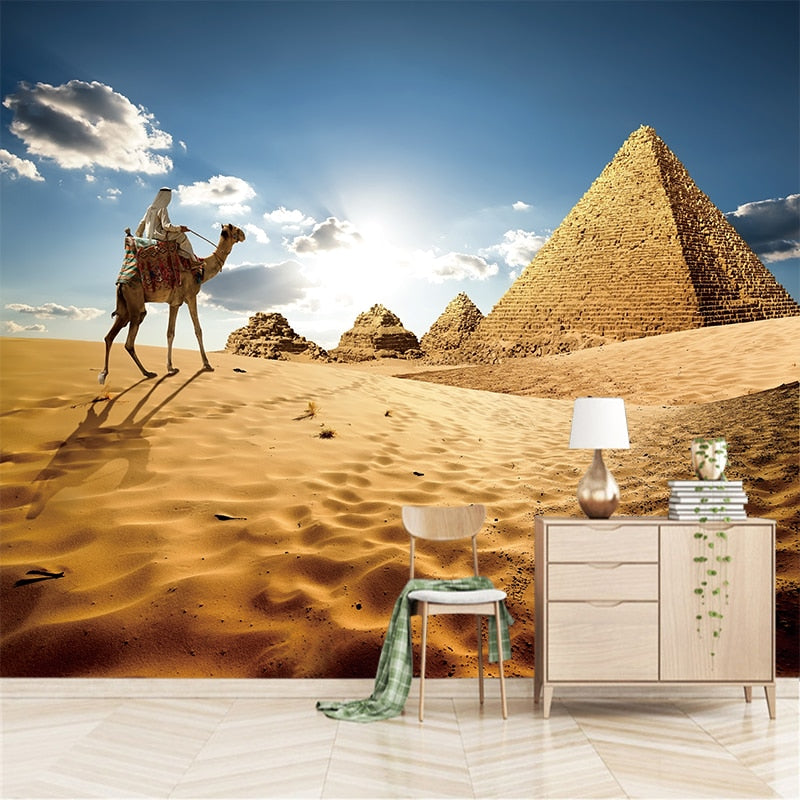3D Modern Abstract Painting Desert Camel Canvas PVC Poster Pictures Living Room Bar Cafe Bedroom Home Decoration YBZ209 - SallyHomey Life's Beautiful