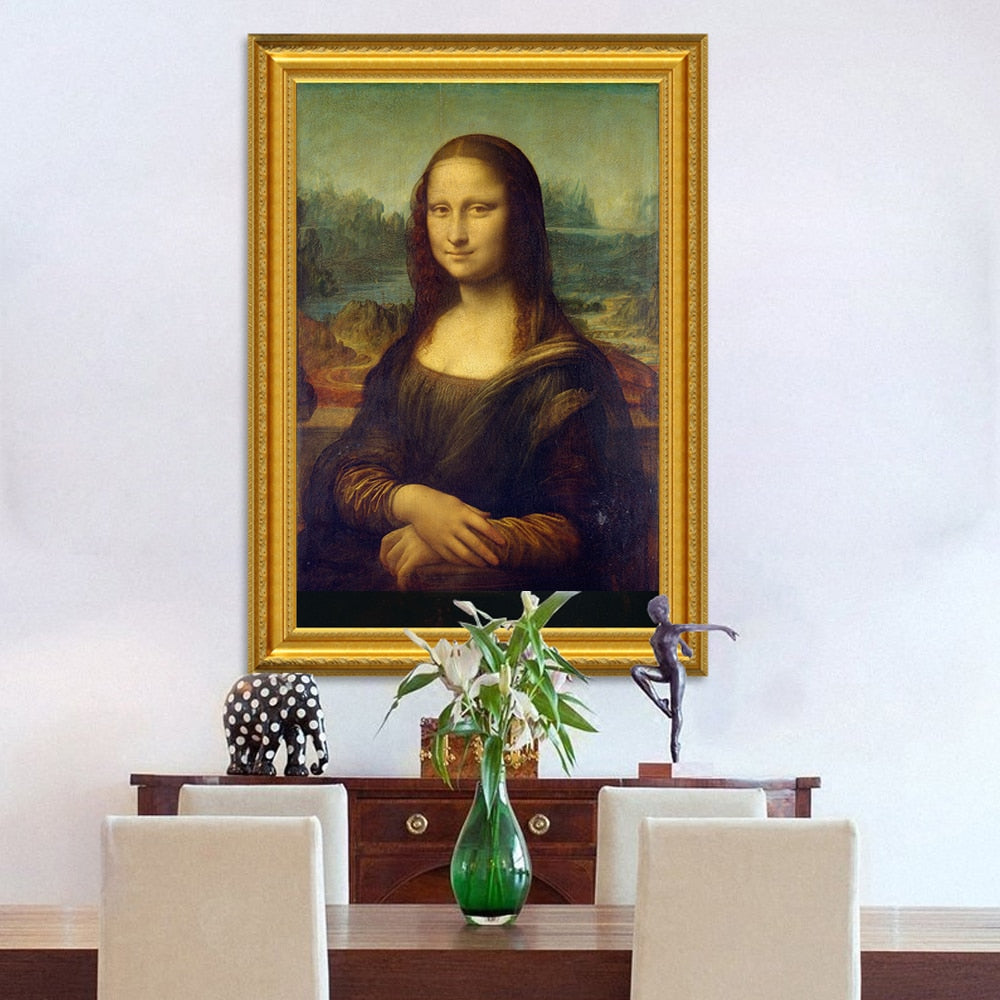 🔥Classic Oil Painting Leonardo Da Vinci The Mona Lisa Smile Canvas Printing Posters - SallyHomey Life's Beautiful