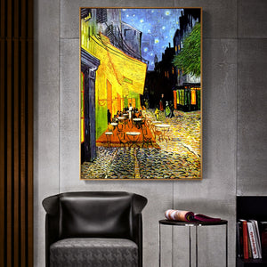 Van Gogh Cafe Terrace At Night Analysis Canvas Printing - SallyHomey Life's Beautiful