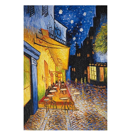 Famous Van Gogh Cafe Terrace At Night Oil Painting Reproductions on Canvas Posters - SallyHomey Life's Beautiful
