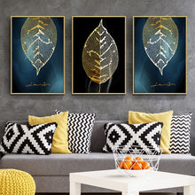 Load image into Gallery viewer, Sallyhomey  ART 3D Decorative Canvas Painting Wall Picture Gold Leaf Painting Posters And Canvas Printing For Living Room Bedroom - SallyHomey Life's Beautiful