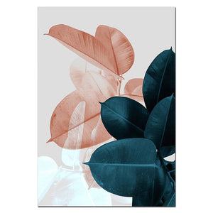 Wall Pictures for Living Room Leaf Cuadros Picture Nordic Poster Floral Wall Art Canvas Painting Botanical Posters and Prints - SallyHomey Life's Beautiful