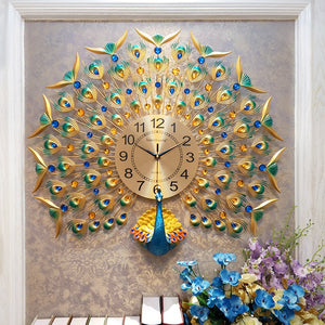Europe peacock wall clocks - SallyHomey Life's Beautiful