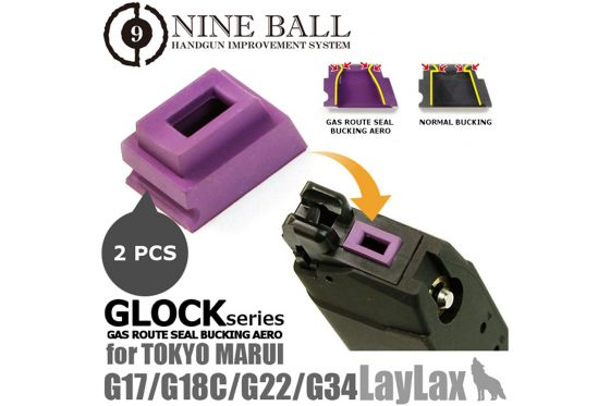 LayLax -  NINE BALL TM Glock Series Gas Rubber Magazine Gasket (2pcs) - 21NBI08