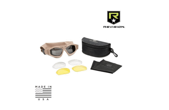 Revision Military Bullet ANT Tactical Goggle Deluxe Tan (3 Lens Kit)