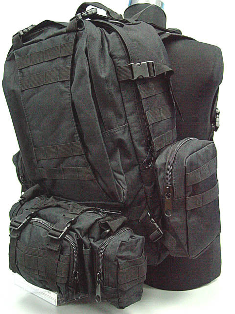 USMC Tactical Molle Assault 3 Days Backpack - Black