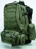 USMC Tactical Molle Assault 3 Days Backpack - OD