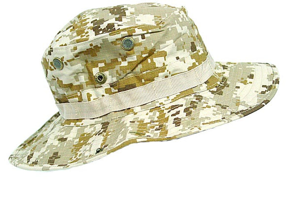 MIL-SPEC Boonie Hat Marine Digital Desert Camo - Large Regular