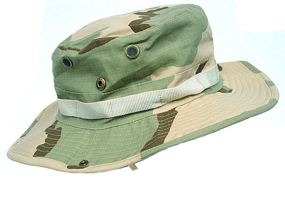 MIL-SPEC Boonie Hat Army 3 Color Desert Camo - Medium