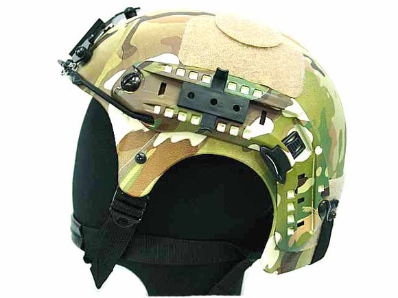 Integrated Ballistic Helmet (IBH) with NVG Mount and Side Rail-Multicam