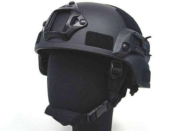 MICH TC-2000 ACH Helmet (with NVG Mount & Side Rail) - Black