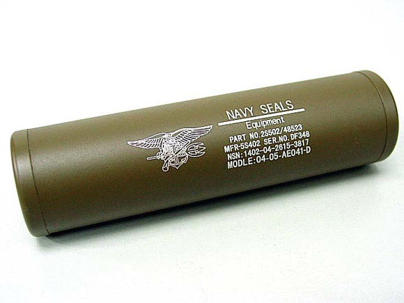 SD - Navy Seal 110x30mm Silencer (CW/CCW) - Tan