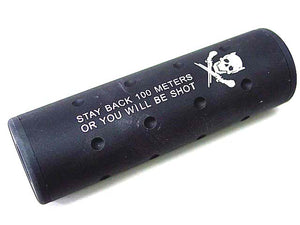 Big Dragon - Stubby Killer Skull Silencer 130x32mm  (14mm CCW/CW) - Black