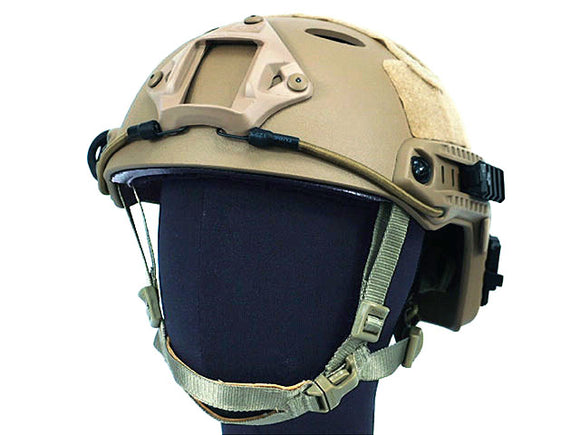 Airsoft FAST Carbon Style Helmet - Brown