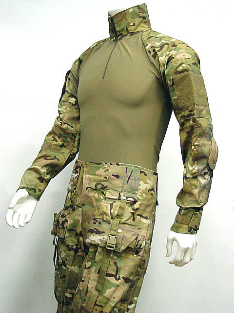 Emerson Combat Shirt Uniform w/Built in Elbow Pads Gen I in Multicam