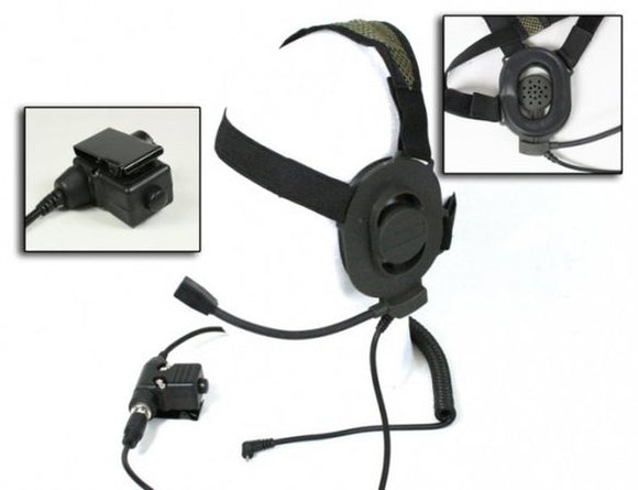 Bravo - Headset Style # 1 with PTT for 1-Pin Motorola /FRS/GMRS