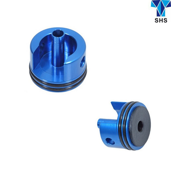 SHS CNC cylinder head for AK (Short type) with rubber mat - Blue - GT0014