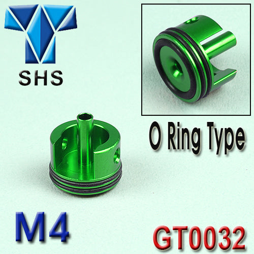 SHS - CNC Double O ring cylinder head for M4 (Short) with O ring - Green - GT0032GL