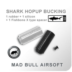 Madbull - Shark Bucking w/ Fishbone Spacer (60degree) - Black/White