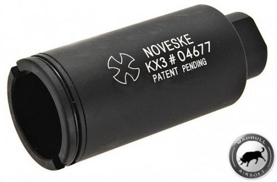 Madbull - Noveske KX3 Adjustable Sound Amplifier Flashhider (14mm CW) - Black