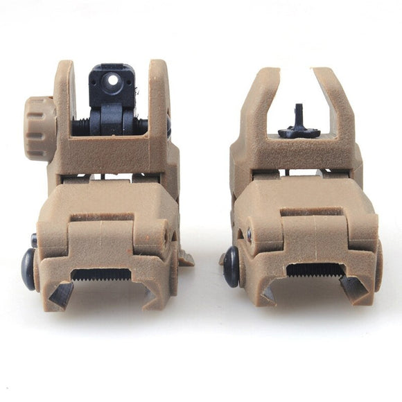 ACM - Polymer Flip up Front and Rear Sight for Airsoft ONLY- DE