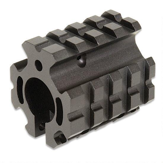 Leaper - Deluxe Quad-Rail Mount Gas Block Barrel Mount MNT-GBQR04A