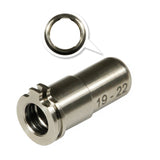 MAXX  - CNC Titanium Adjustable Air Seal Nozzle 19mm - 22mm- MX-NOZ1922TN