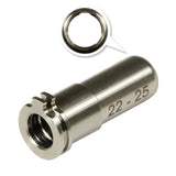 MAXX  - CNC Titanium Adjustable Air Seal Nozzle 22mm - 25mm- MX-NOZ2225TN