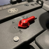 MAXX - CNC Alu Low Profile Selector Lever (Style A) for VFC SCAR-L/H AEGs in Red Color - MX-SEL007SAR