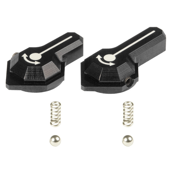 MAXX  - CNC Alu Low Profile Selector Lever (Style B) for VFC SCAR-L/H AEGs in Black Color - MX-SEL007SBB