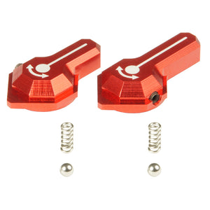 MAXX - CNC Alu Low Profile Selector Lever (Style B) for VFC SCAR-L/H AEGs in Red Color - MX-SEL007SBR