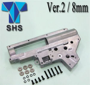 SHS -  8mm Gearbox V2 Shell with Tappet Plate and hardware for M4/M16 AEGS