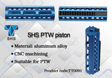 SHS - 15 Steel Teeth Aluminum Piston (Blue) for PTW/CTW AEG - TT0091