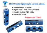 "SHS - 15T ""swiss-cheesing"" Piston for airsoft AEGs- TT0093 - Blue"