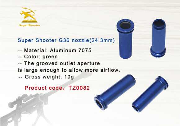 Super Shooter CNC 7075 air nozzle for G36C AEG (24.3mm) - TZ0082