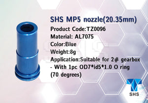 SHS CNC 7075 air nozzle for MP5 AEG (20.35mm) - TZ0096