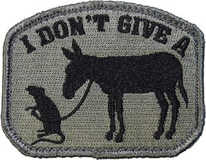 "Milspec - I Don't Give A Rat's Ass (3""x2.35"") - P0010"