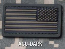 "MM- US Flag PVC Mini Rev (2""x1.1"")"