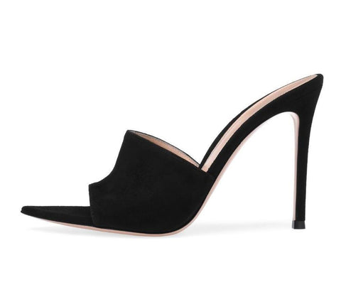 Pointed Toe Open Toe High Heel