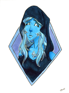 Blue Diamond Print