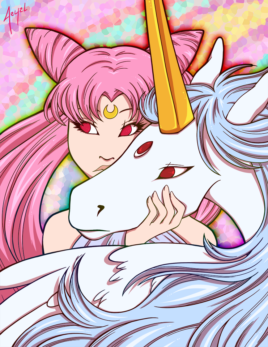 Chibiusa and Pegasus Print
