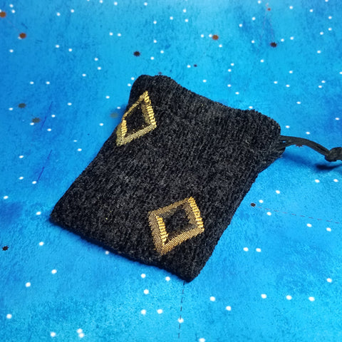 Black and Gold Diamond Coin Purse